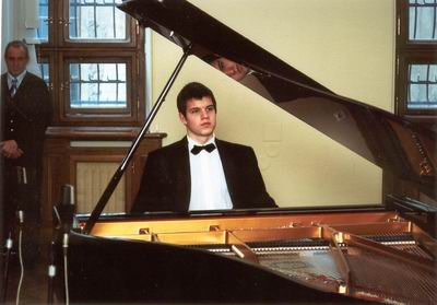 Martin Levický (the 1st prize in the second category) at the prizewinners´ concert
